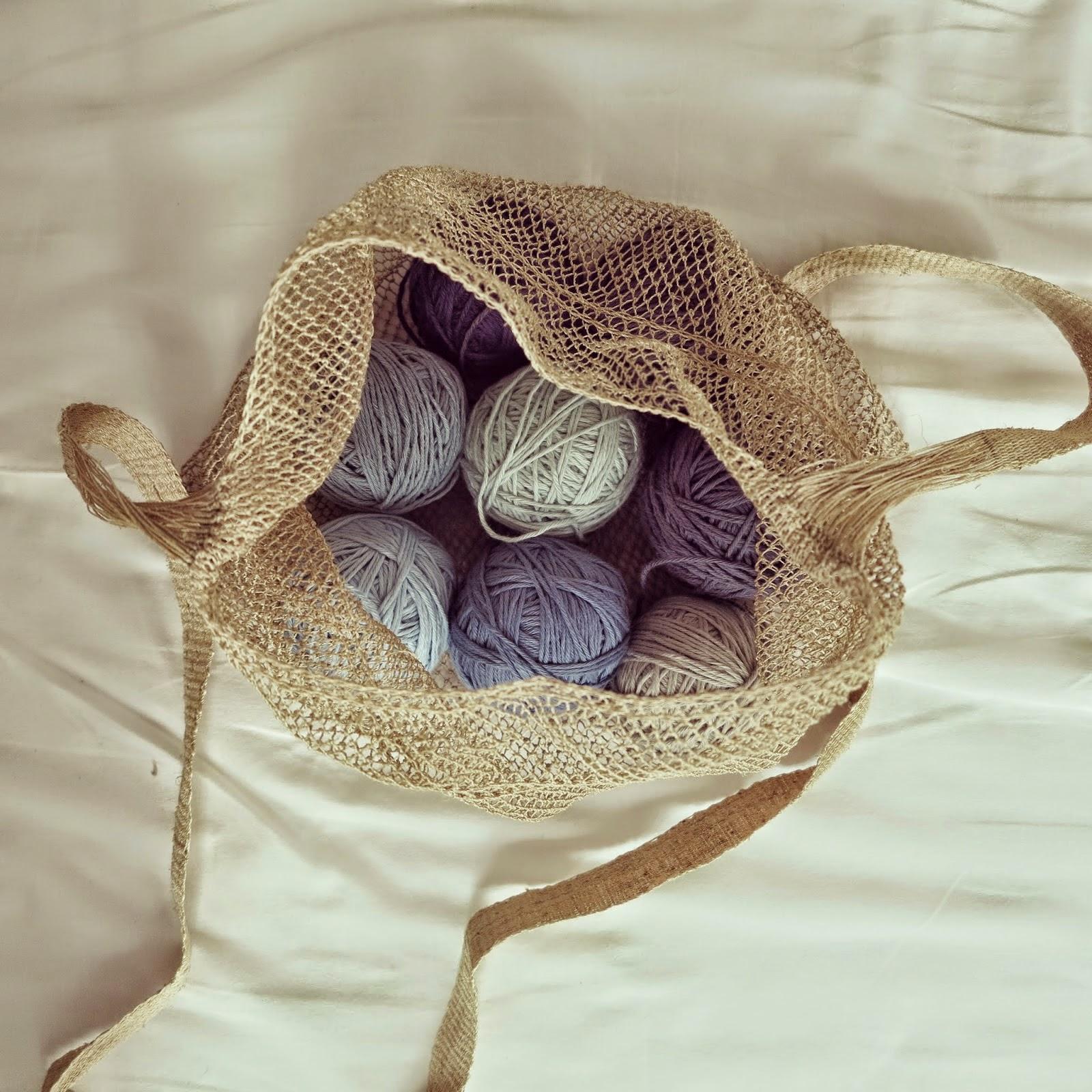 ByHaafner, yarn bag, Nature Bag, kudzu, JungleVine