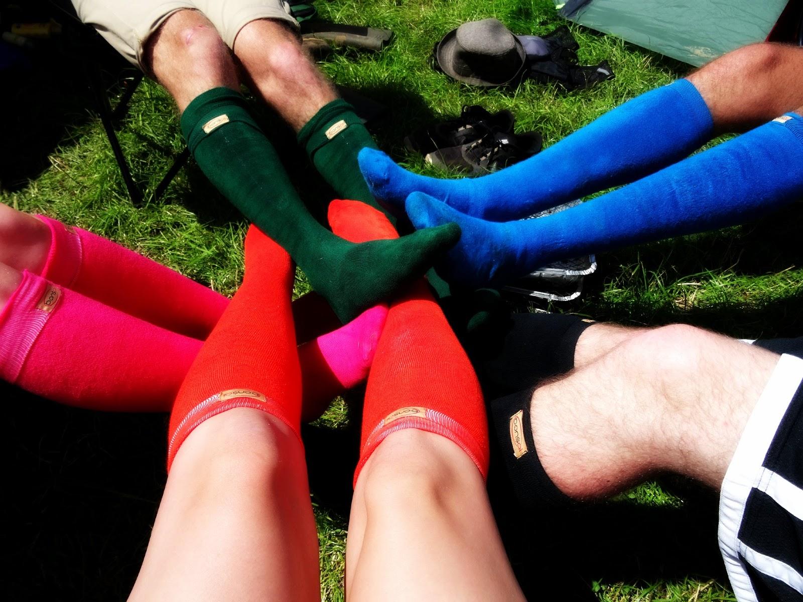 Bonsai Socks goe Glastonbury