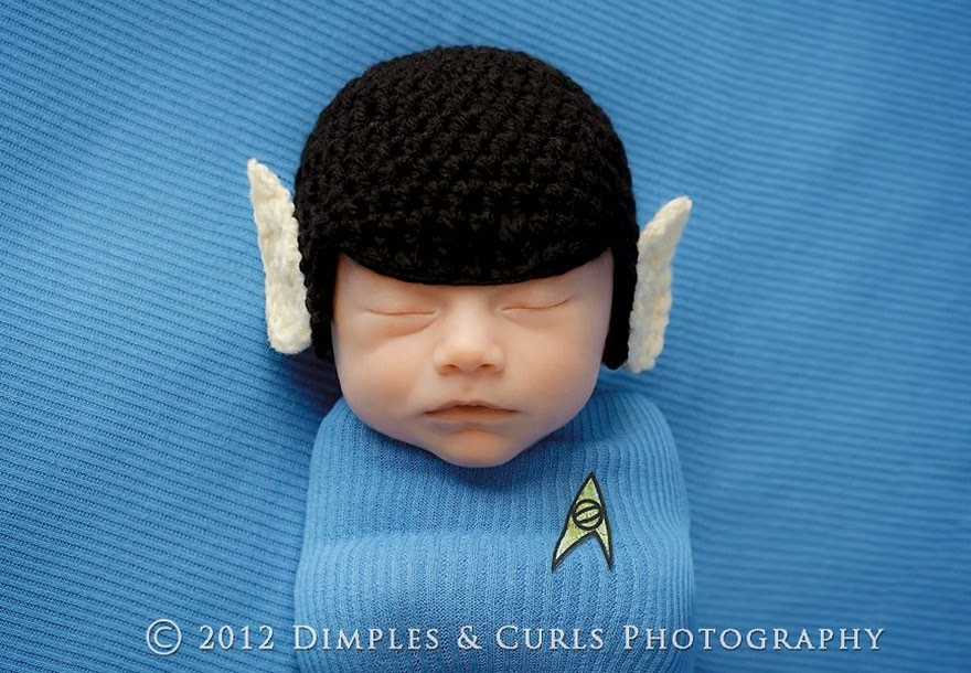 #4 Baby Spock - 22 Geeky Newborns Who Are Following In Their Parents' Nerdy Footsteps