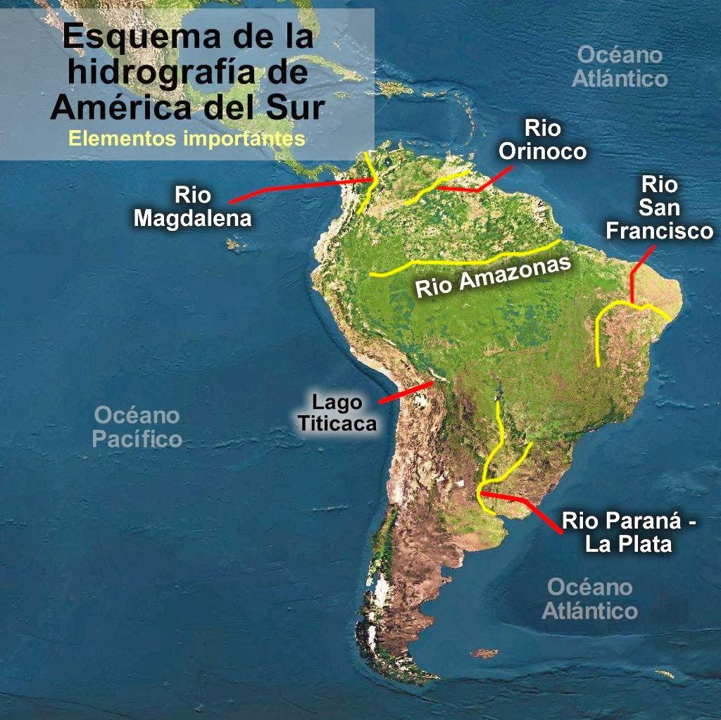 mapa de sudamerica y centroamerica