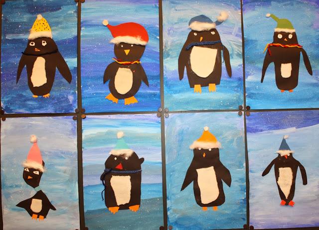 Klassenkunst basteln zu weihnachten 2013 2015 - Basteln winter kindergarten ...