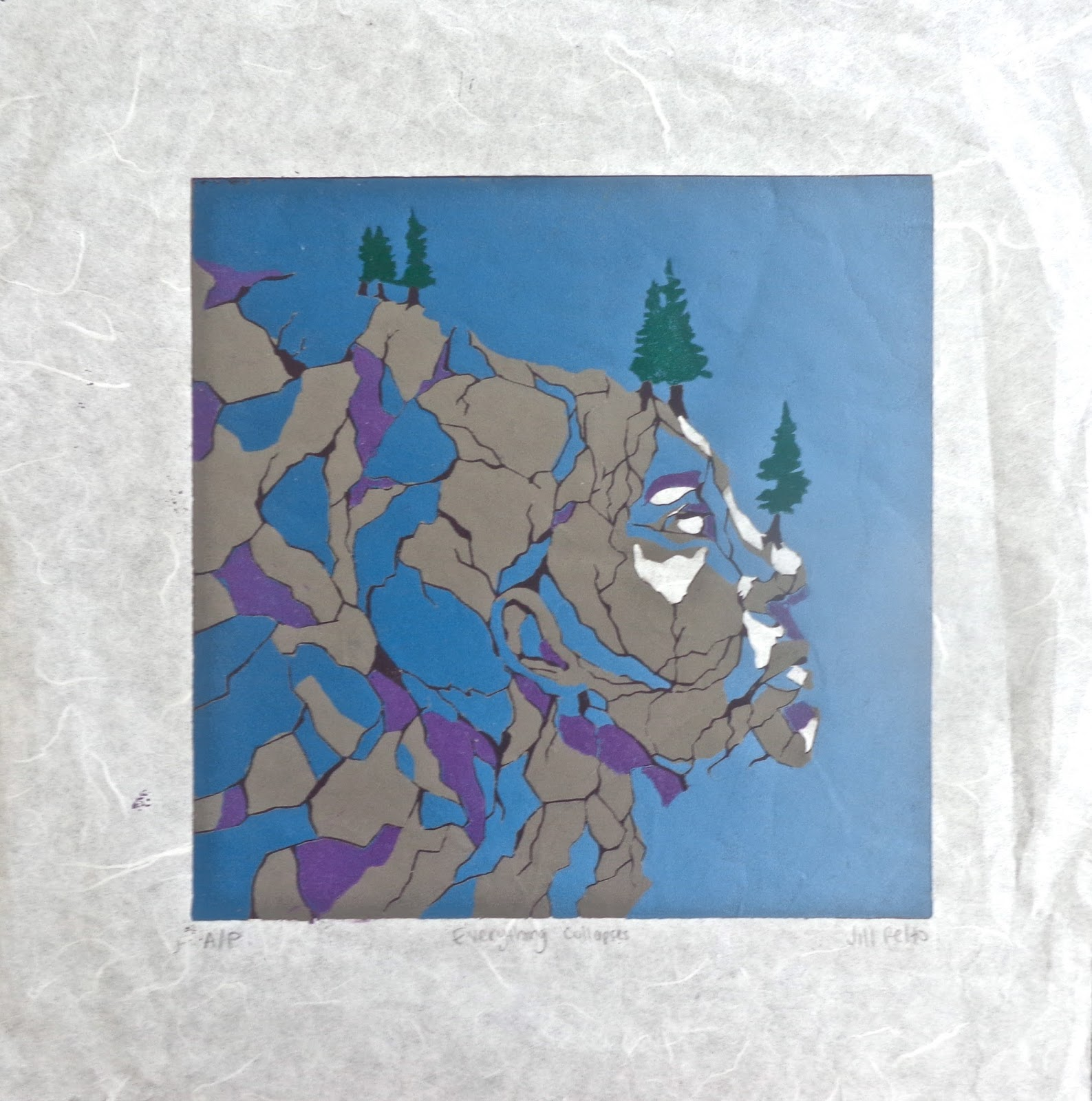 The Second Linoleum Relief Print We Made Was Done Multi Colored In What Is Called Suicide Style Because You Cannot Fix A Mistake Un Carve Something