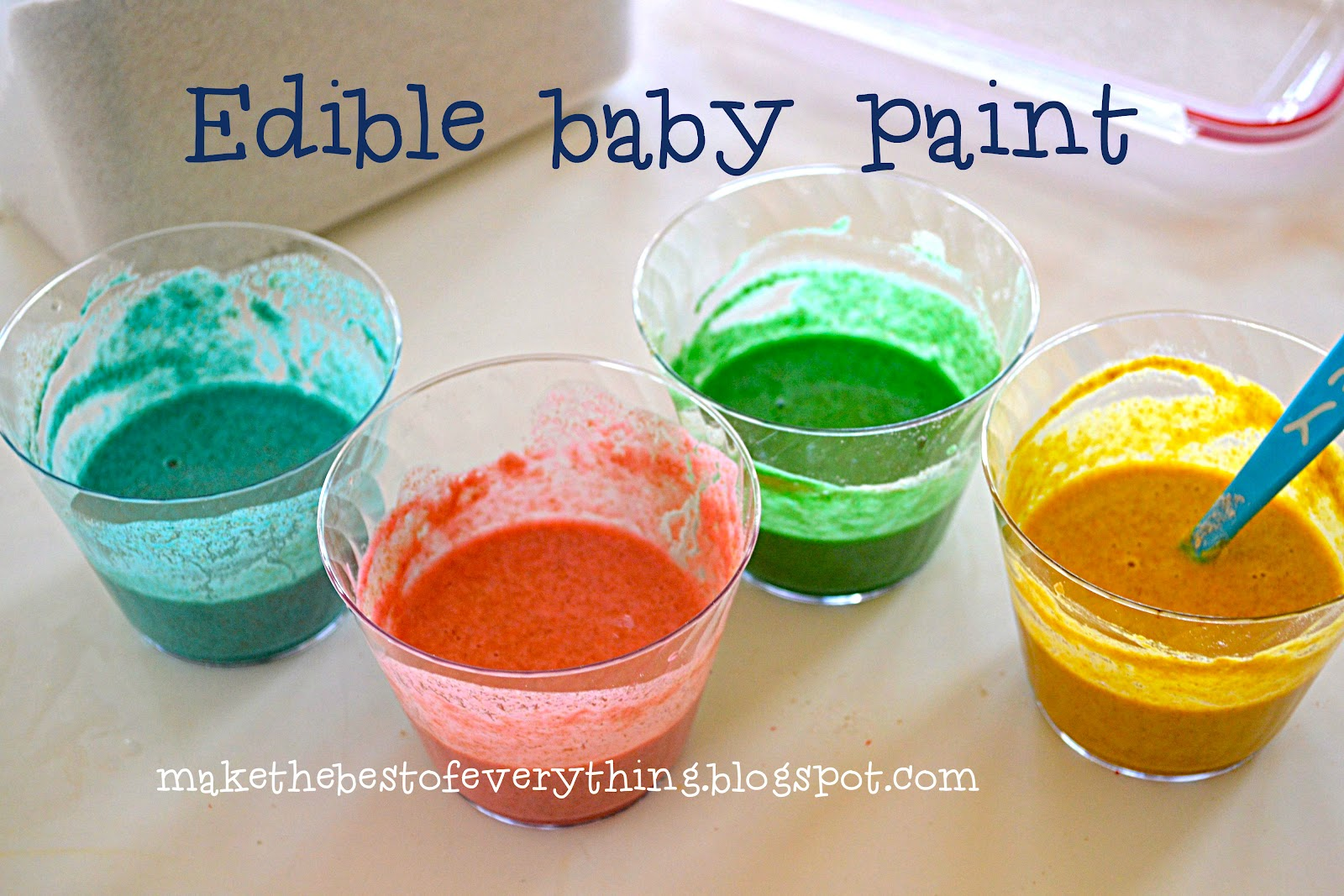 How To Make Edible Paint For Infants