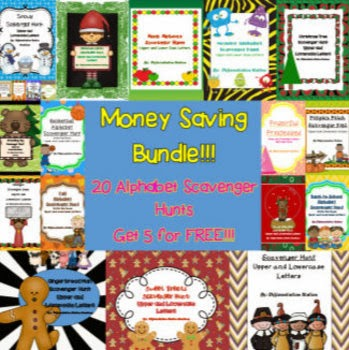 http://www.teacherspayteachers.com/Product/BUNDLE-Write-the-Room-Alphabet-Scavenger-Hunts-814278