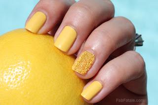 caviar manicure, yellow manicure