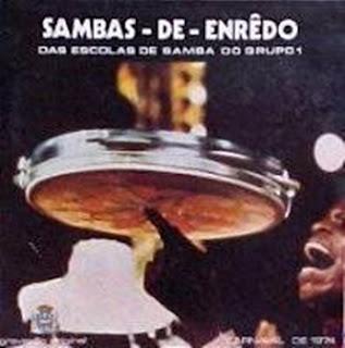 foto da capa do cd sambas de enredo 1974 grupo especial carnaval do Rio de Janeiro