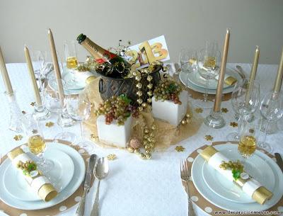 Decoracion de mesas mesa a o nuevo 2013 for Mesa de fin de ano