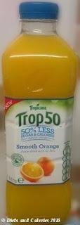 Tropicana Trop50 Fruit Juice Smooth Orange bottle