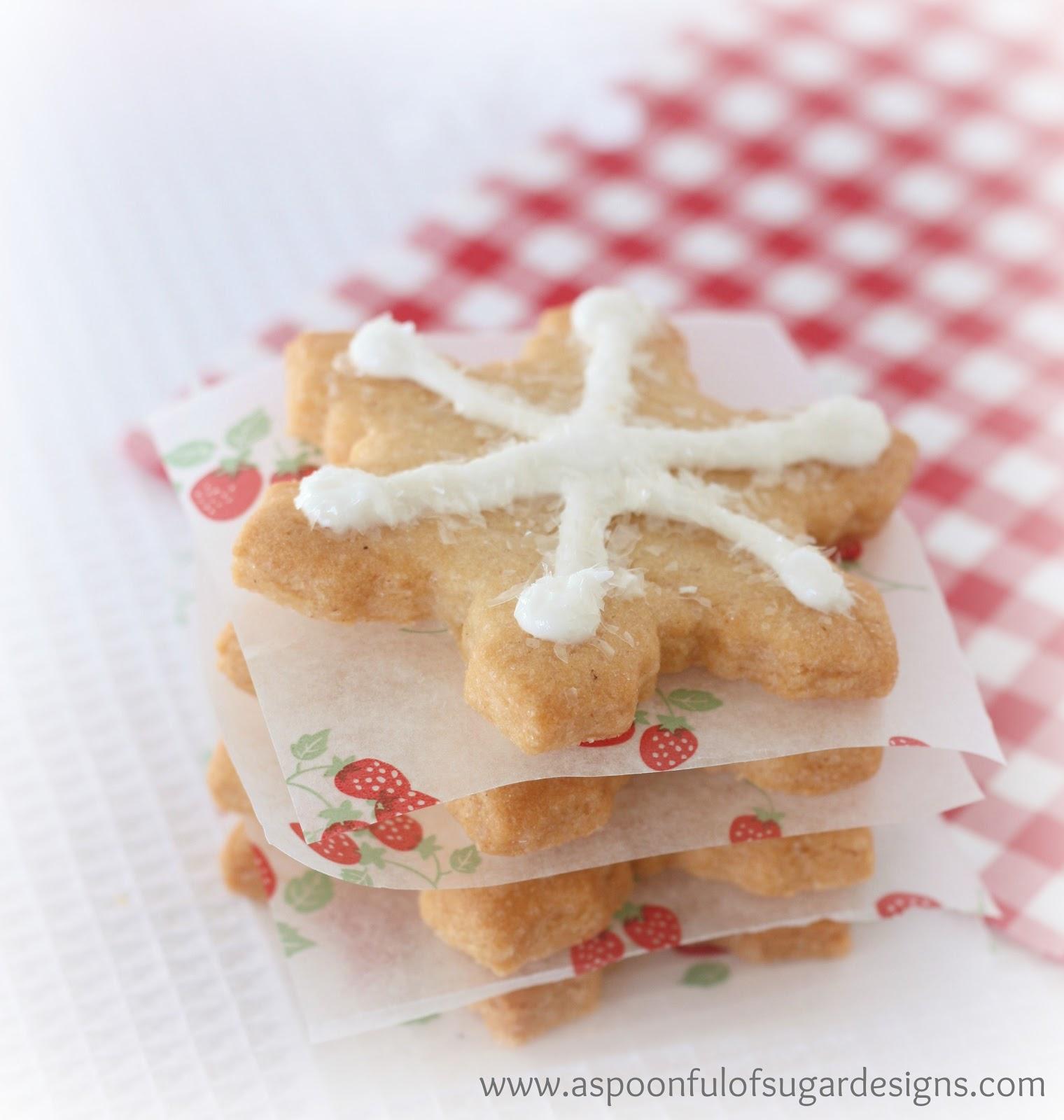 Snowflake Cookies A Spoonful Of Sugar