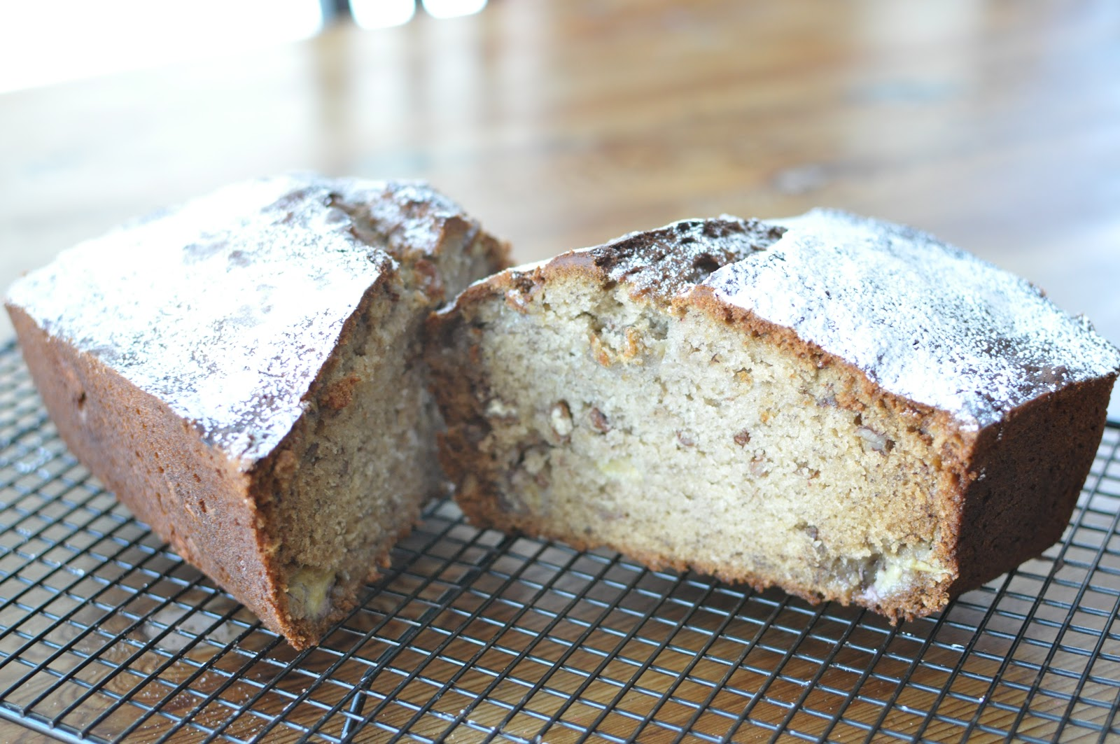 You go girl banana bread with pecans tyler florence give this a try next time you have those ripe bananas i didnt change anything about this recipe so please visit the food network for all of the details forumfinder Image collections