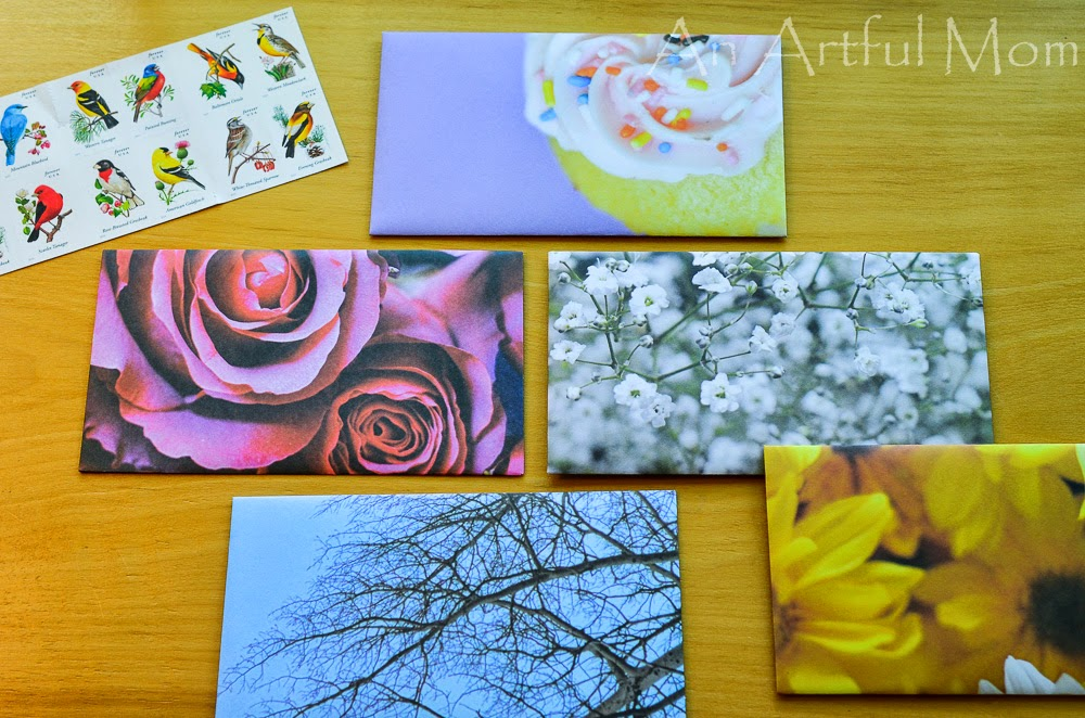 Make Envelopes with Scrapbook Paper ~ An Artful Mom