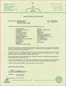 Halal Product Certificate 2014