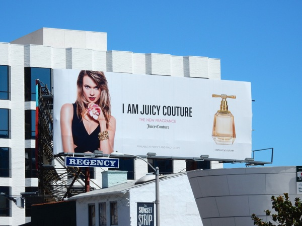 I am Juicy Couture fragrance billboard