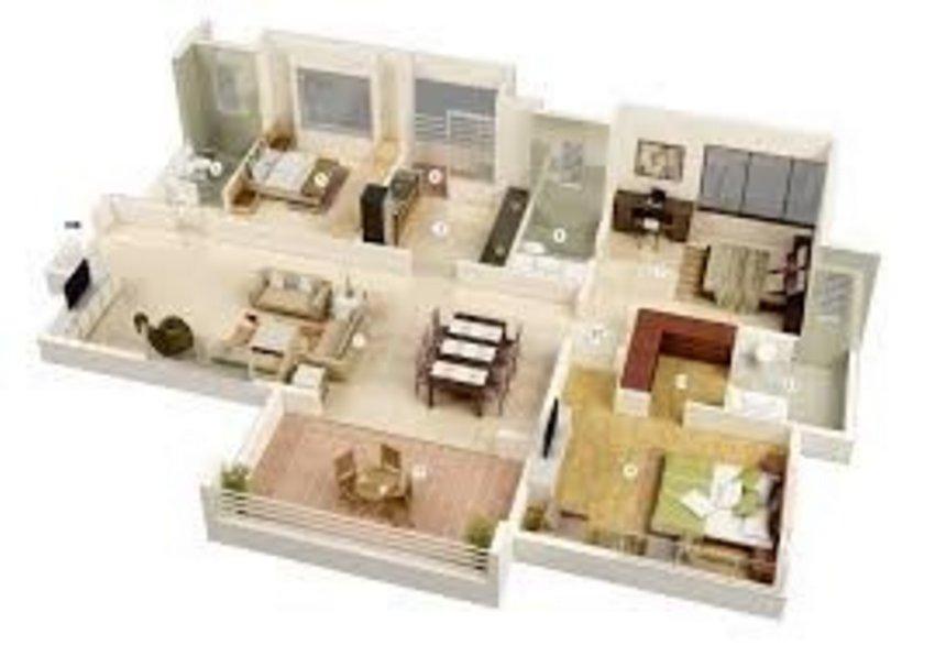 3D Floor Modern On Unique 5