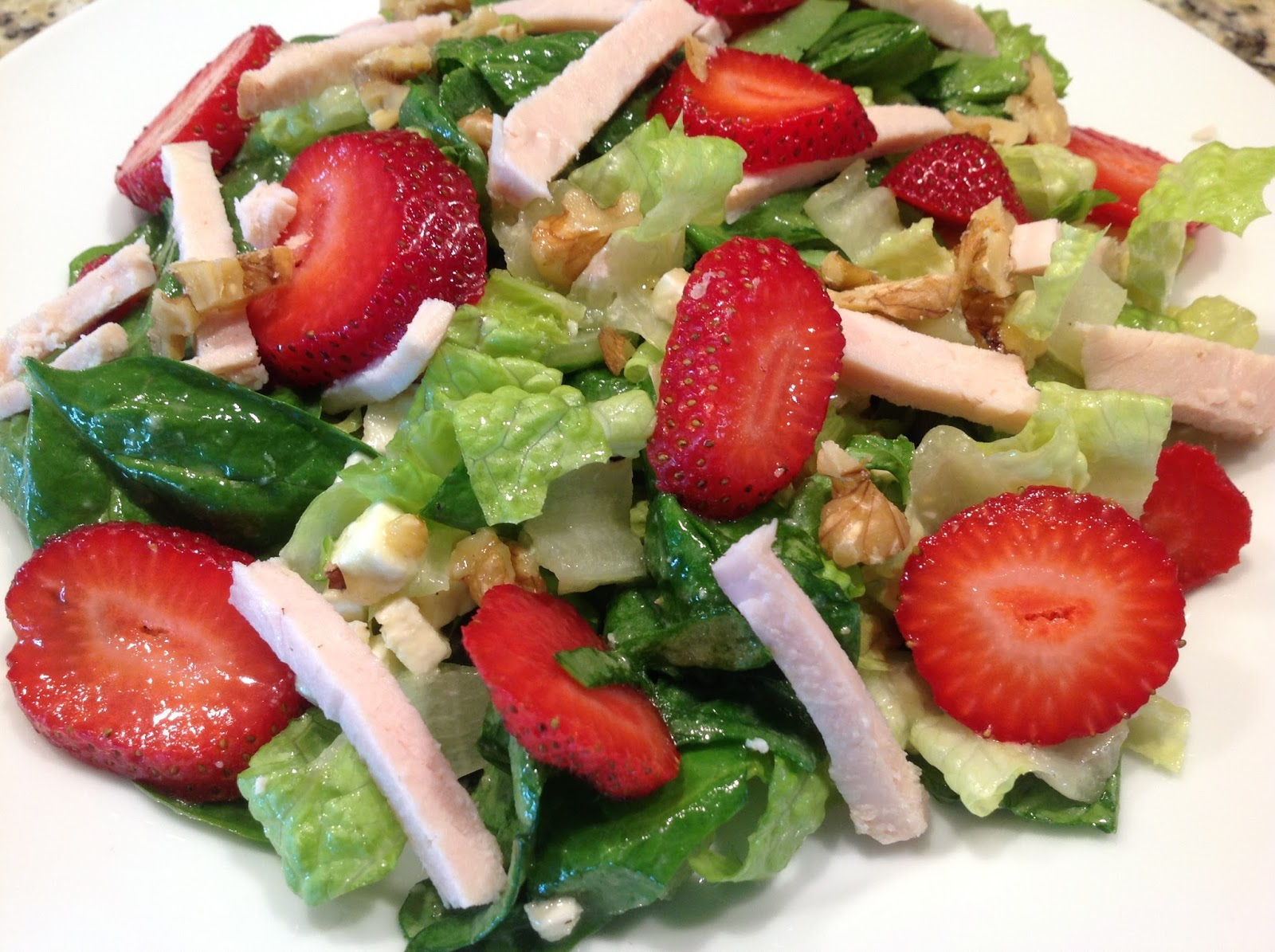 Dawn's Recipes: Strawberry, Chicken and Feta Salad