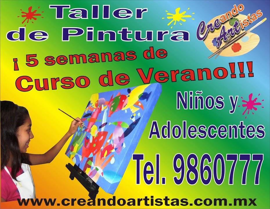 Curso de Verano, dibujo y pintura para niños y adolescentes en Veracruz