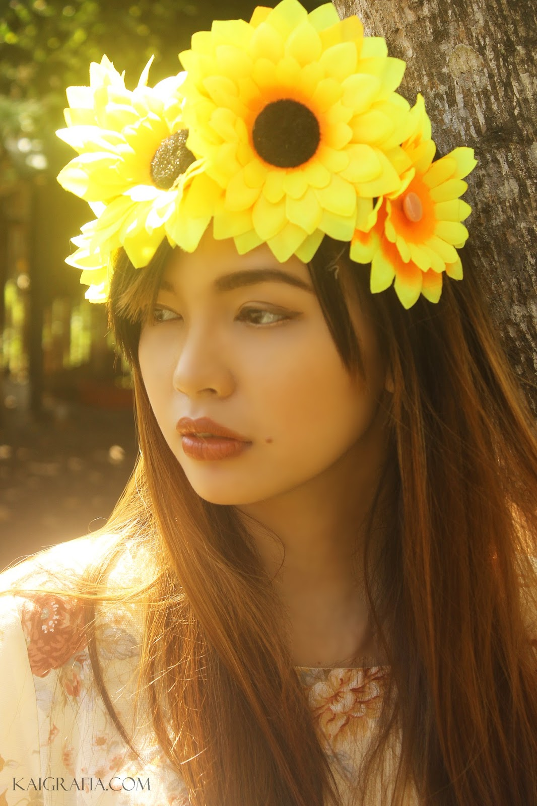 Bohemian-inspired Makeup floral summer