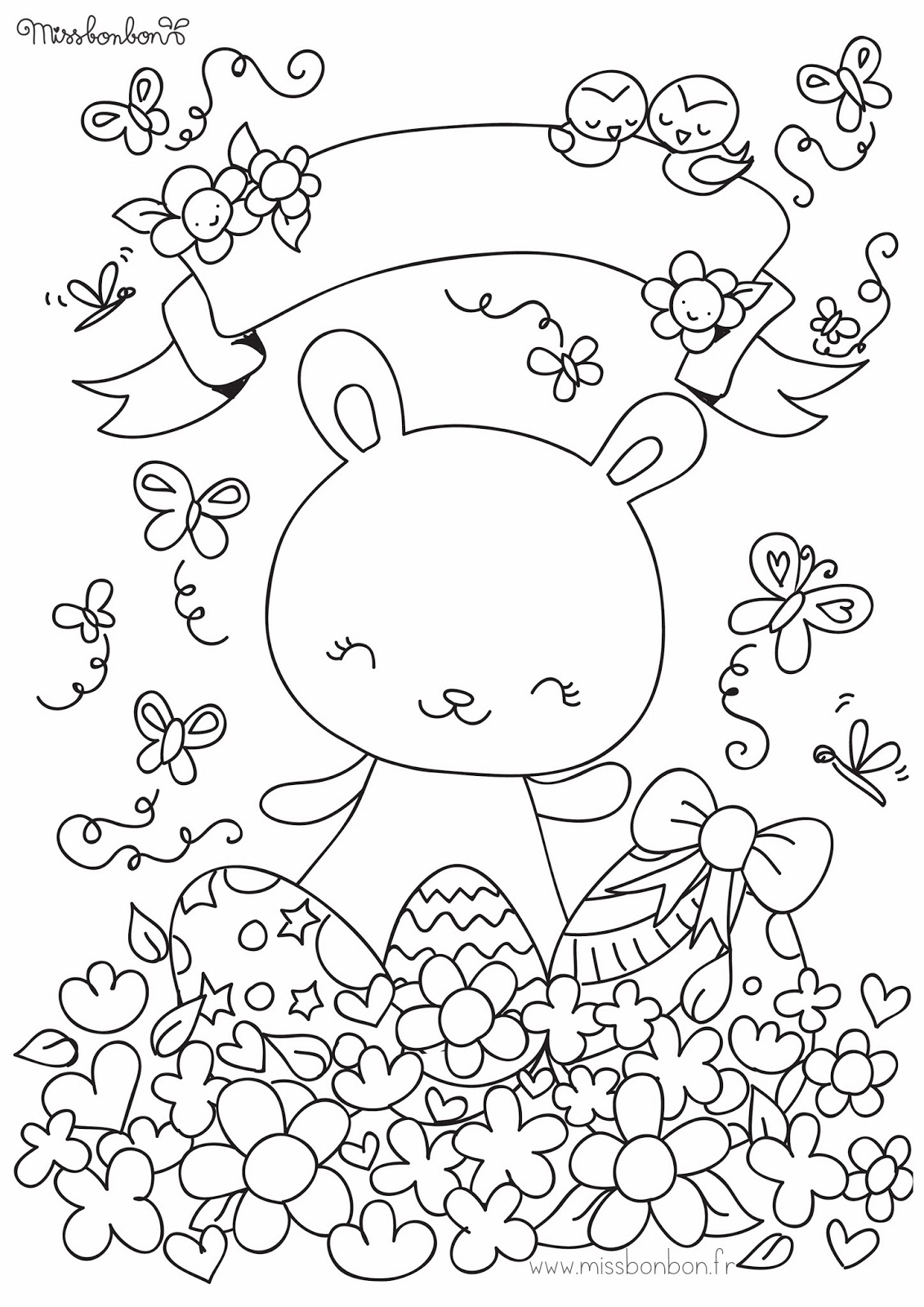 Abracadabulle - Coloriages paques ...