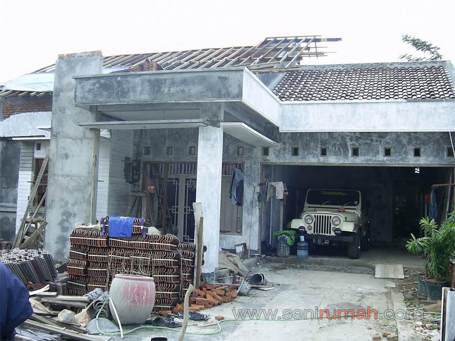 renovasi tampak depan rumah bangunan lama di jakarta timur