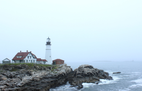 The scenery of Portland, Maine is classic and relaxing.