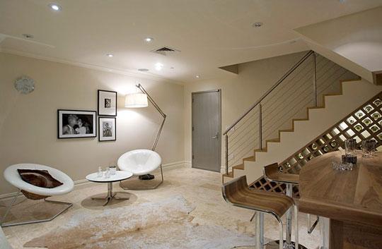 interior design ceiling for low basement