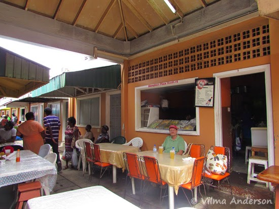 Local diner in Castries, St. Lucia