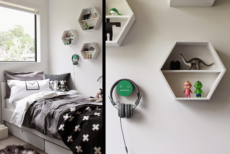 Un dormitorio infantil estilo nordico en blanco y negro for Dormitorio estilo nordico blanco