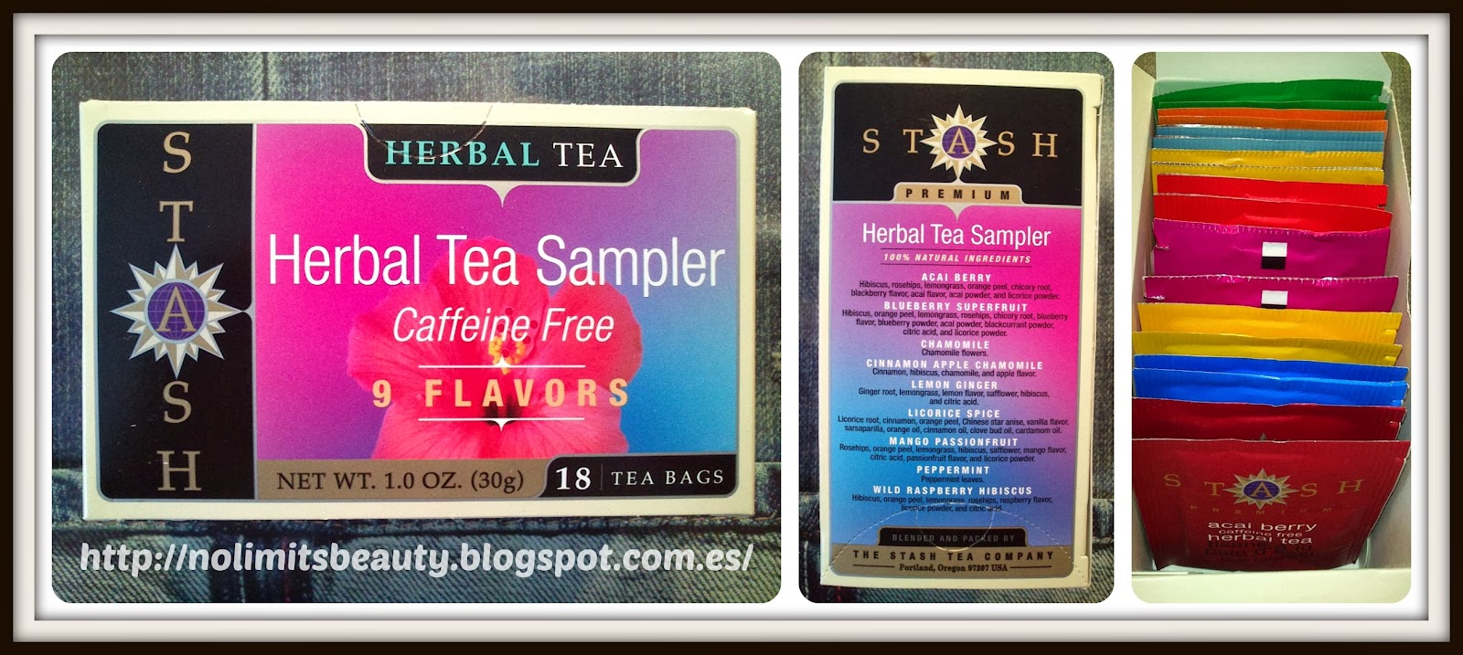 iHerb - Stash Tea, Herbal Tea Sampler, Caffeine Free, 9 Flavors, 18 Tea Bags, 1.0 oz (30 g)
