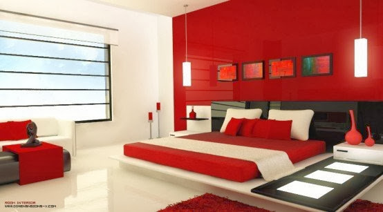 20 bedroom design ideas in a red color - painting, furniture ...