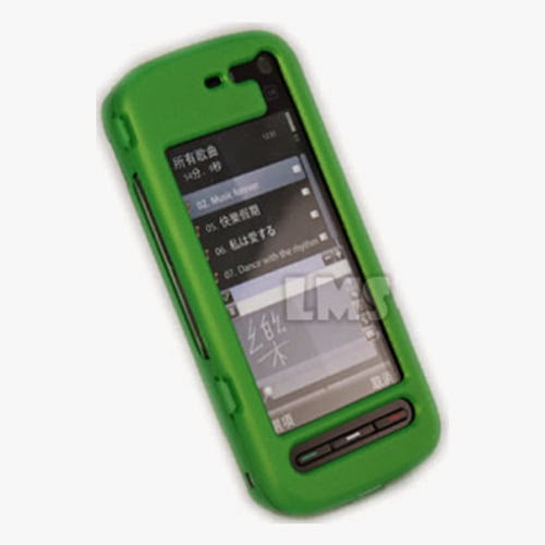 GREEN NOKIA 5800 XPRESS MUSIC HYBRID HARD SKIN CASE