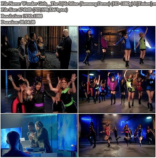 Download MV Wonder Girls - The DJ Is Mine (Samsung 2D Demo Bluray Full HD 1080p)