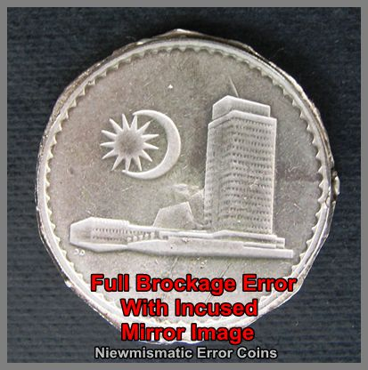50 Cents Full Brockage Error coin.