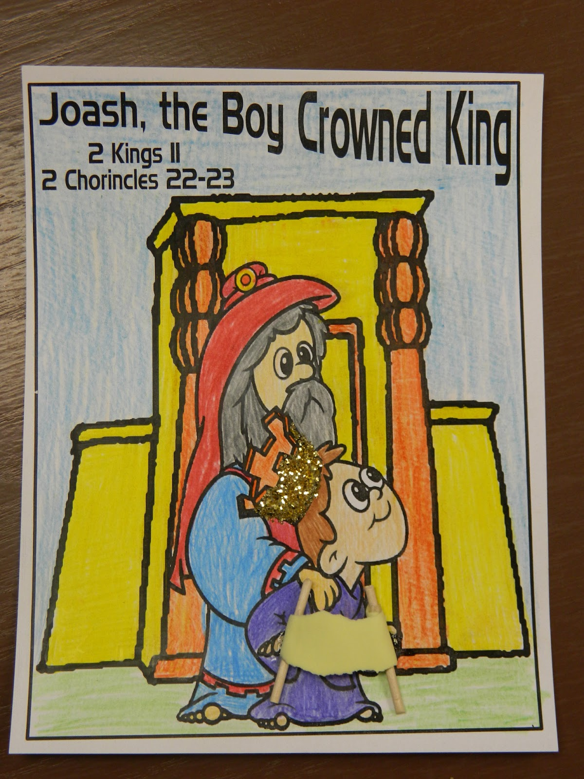 Hands on bible teacher joash the boy king for King joash coloring page