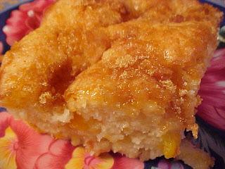 Gâteau-pouding aux pêches Viviane