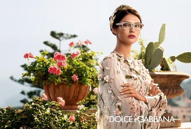 Dolce & Gabbana Spring 2014 Almond Blossoms Chiffon Dress