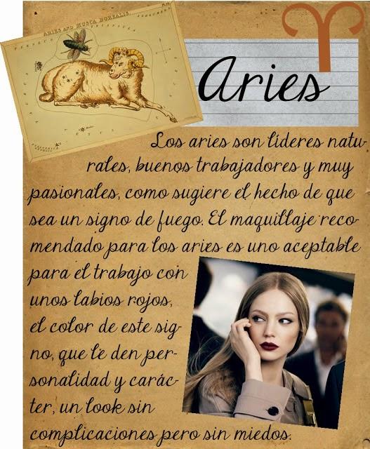Maquillarse segun tu signo zodiacal, Aries