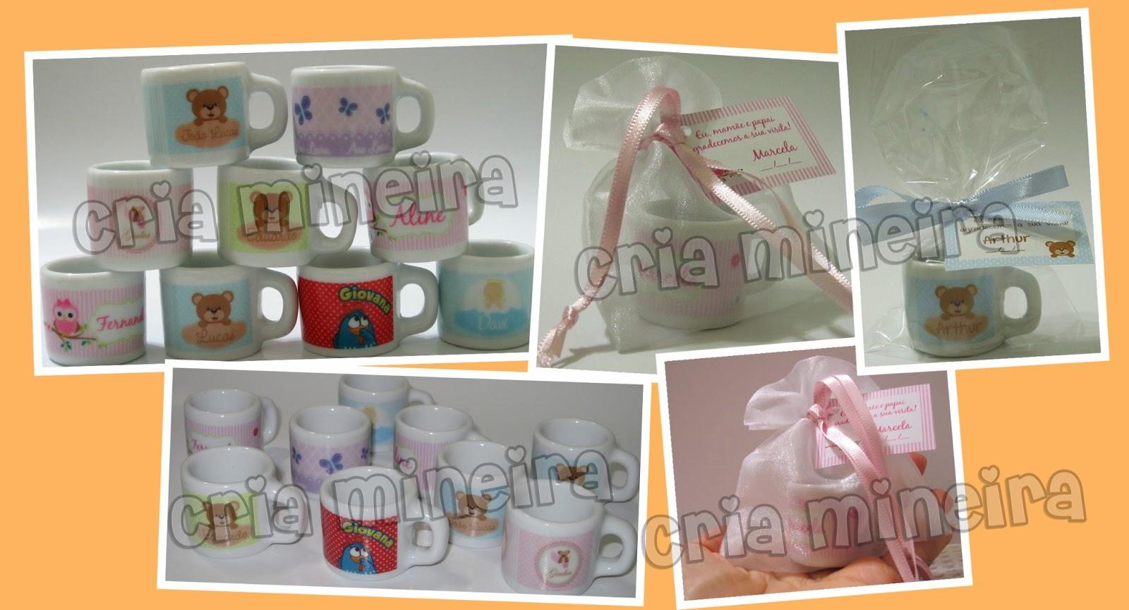 Mini Caneca. Evento: Chá de bebê