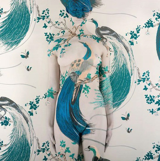 woman body painting  by Emma Hack