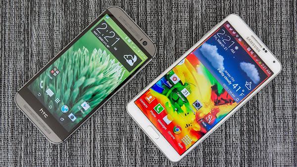 HTC One M8 vs. Samsung Galaxy Note 3