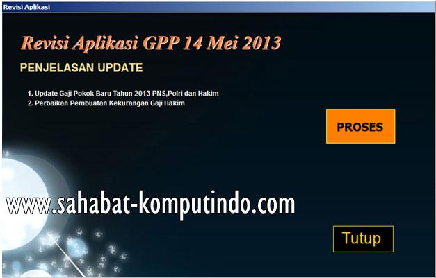 Update Aplikasi GPP 2013 versi 14 Mei 2013