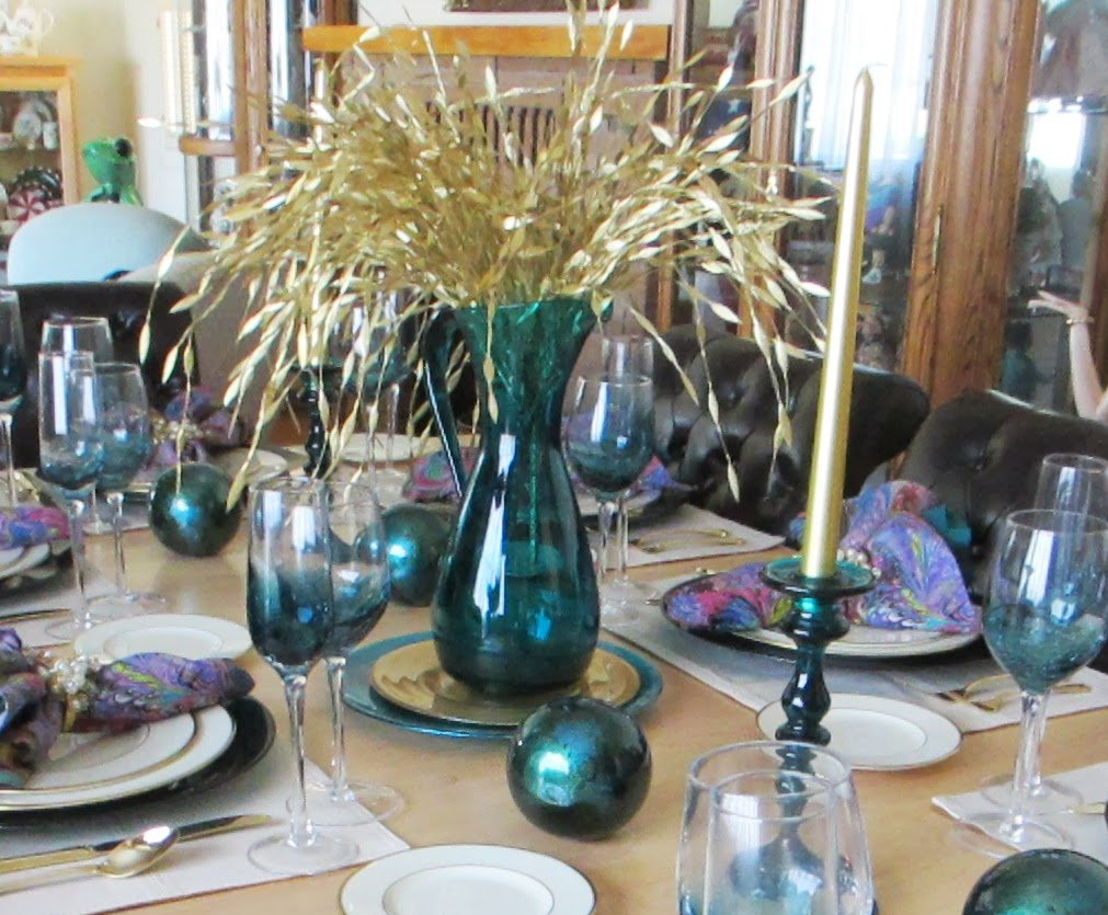 The Welcomed Guest Teal And Silver Tablescape