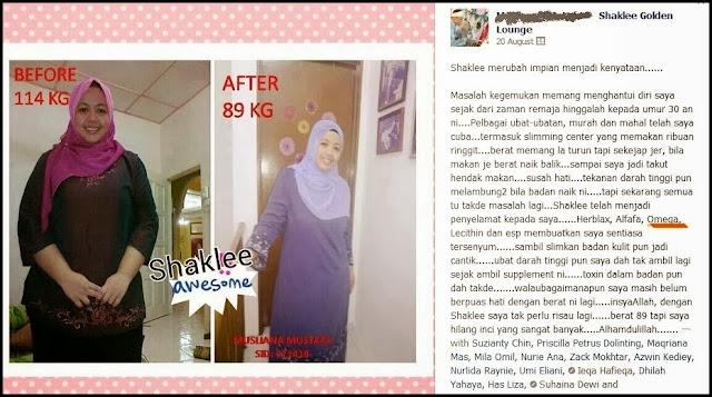Testimoni kurus dengan produk Shaklee