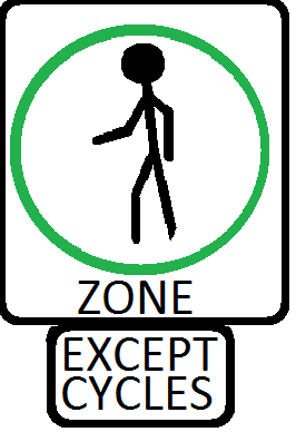 Pedestrianized zones