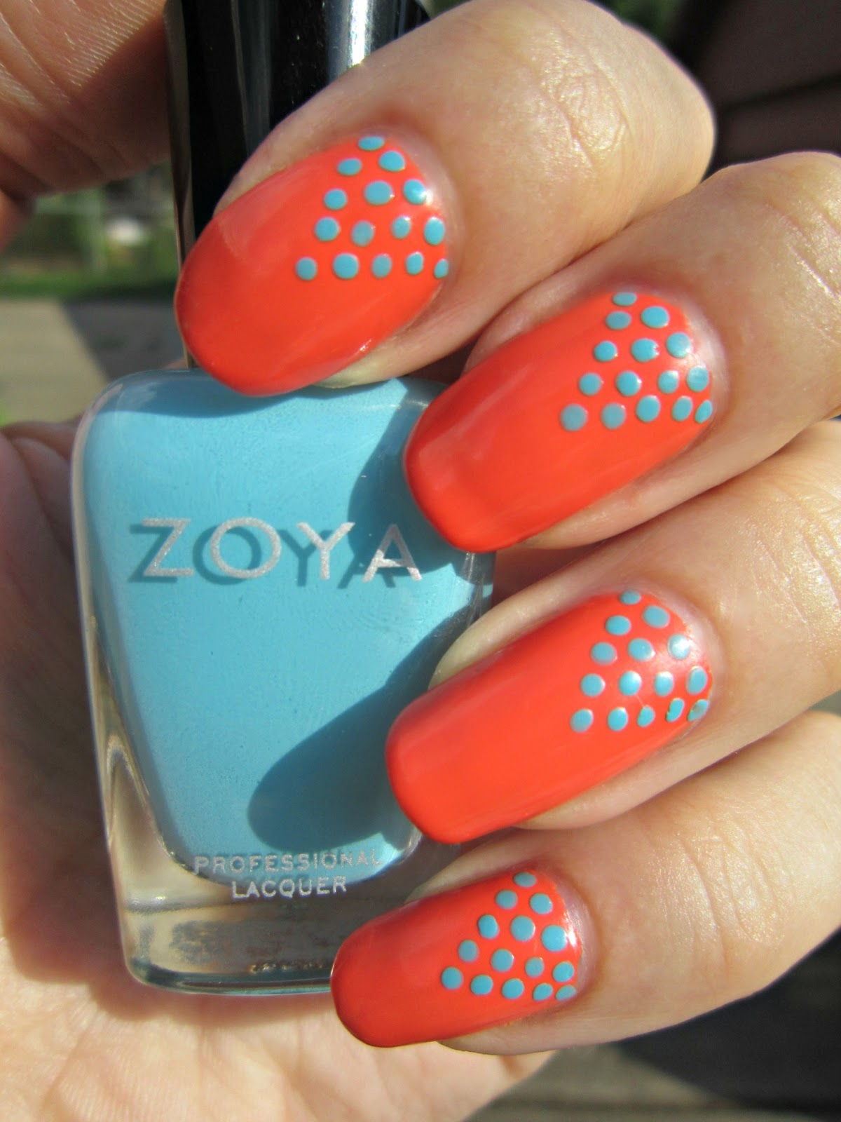 Concrete and nail polish favorite posts polka dot nail art inspired by chalkboard nails prinsesfo Gallery