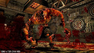 Rick from Splatterhouse covered in Blood
