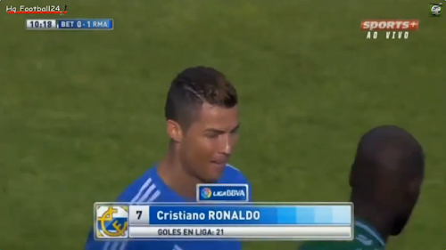 Gols Bétis 0 x 5 Real Madrid 20° Rodada [Vídeo]