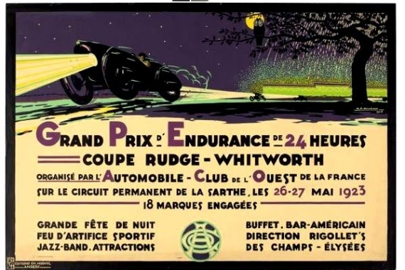 Affiche officielle des 24 Heures du Mans 1923