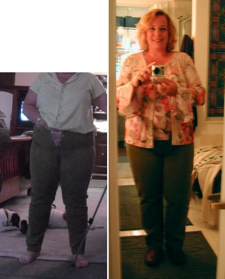 On the left below is what they looked like on me a month ago (the pic ...