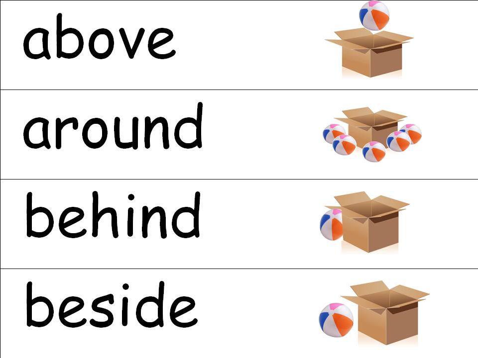 Positional Words Worksheets – Kindergarten Positional Words Worksheets