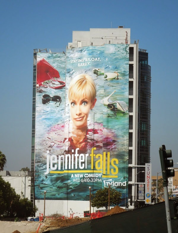 Giant Jennifer Falls series premiere TV billboard